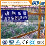 wholesale pvc coated chain link fence with top barbed wire