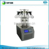 TOPT-10D laboratory lyophilizer vacuum freeze dryer with LCD display screen and USB port