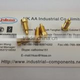 CNC Machining gold plated spring loaded pin