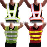 Hot Sale Red/Yellow High Visibility Reflective Conspicuity Vest Warning Safety Working Clothes