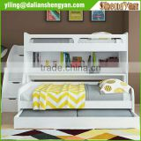 Twin Over Twin Bunk Bed Trundle with Storage Drawers