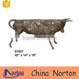 New pop art Large bull bench garden statues decoration NTBA-B026Y