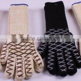 100% fire proof grill glove High temperature heat resistant glove for barbecue and kitchen oven