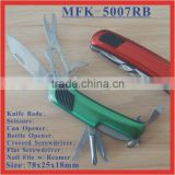 (MFK-5007RB) 7 Folds Swiss Multifunction Pocket Knives