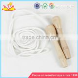 wholesale new kids toys wooden handle skipping jump rope primary color children wooden jump rope W01A292