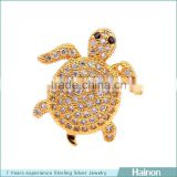 turtle 18k gold filled in sterling silver with zircon accessory hainon jewelry