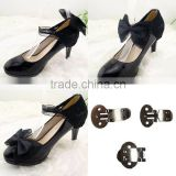 Black Lace and Bowknot Decorative Shoe Ornaments Shoe Lace Clips for Wedding Shoe Accessories