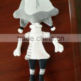 2015 custom cute plush action figure girl baby doll character