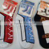 Men and Women Custom Colorful Silly Sneaker Novelty Combed Cotton Socks Silly Socks-ZP00234