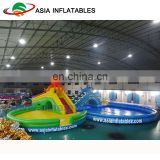 Water Park Combo for Kids and Adults / Giant Inflatable Water Slide With Two Pools