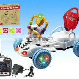 children RC eletric car with light and music