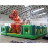 inflatable game, inflatable toy, dinosaur obstacle