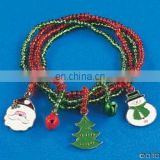 Holiday Four-Strand Bracelet W/charms