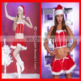 2015 New wholesale christmas costume hot red sexy adult christmas costume