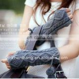 Simple Customized design promotional acrylic knit gloves maker