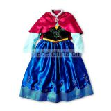 new stock wholesale frozen anna elsa costume princess dress 100-160cm for 2-12yr SU040                                                                         Quality Choice