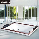 2 Persons Rectangle Outdoor Spa Massage Bathtub For Sale