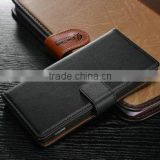 New design smooth leather wallet case for Sony Z2