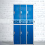 colorful 6 door school steel storage locker , kids clothes locker , cabinet locker for gym