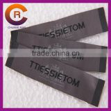 Wholesales black logo printed customize made cotton cheap woven custom t-shirt labels and tags