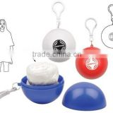 Pocket Ball Rain Poncho Portable with Lanyard & Custom Logo for Promotion