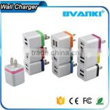 5V 2.1/1A USA Plug AC Travel Dual USB Wall Charger For iPhone 6 5 For iPad For Samsung Galaxy S6 S5 S4 Mobile Phones Adapter                                                                         Quality Choice
