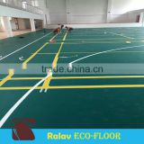Good Elasticity Litchi Grain PVC Sports Flooring for Indoor Badminton Court