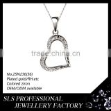heart shape pendanrt sterling silver pendant blanks in Guangzhou Wholesale pendant jewelry