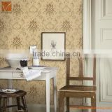 Environmental friendly luxury European classical flower commercial non-woven wallpaper wallcovering