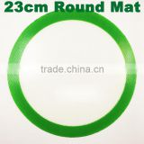 Round silicone dab wax mat silicone bho oil pad custom silicone mat dabber sheets wax vaporizer rubber mats