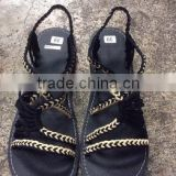 Dobbytex DBTS8 Cream Black Twist Handmade rope Sandals/Shoes Hill tribe / Hmong / Summer / African