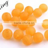 Orange Color Wholesales Cheap Price Fashion 6MM to 14MM Acrylic Transparent Matte Frost Beads for Kids Jewelry Necklace Making