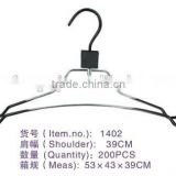 1402 wire hanger with PVC made in china factory &metal pant hangers
