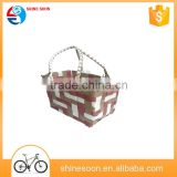 Hot Sale Good Quality Braided Rope Bike Basket