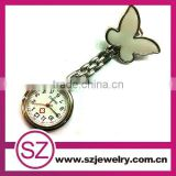 2016 Best Nurses And Doctors Gift Alloy Nurse Brooch Watch Butterfly Hot Nurse Watch Doctor Watch