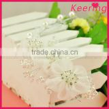 newest cheap white flower wedding bridal hair accessories WHD-013