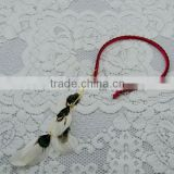 2014 wholesle Bohemia Feather tassel hairband Tassel pendant leather red hair hoop colored feather hairband