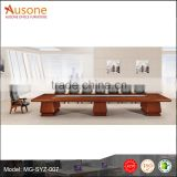 Classic plaint wood veneer furniture MDF board meeting table