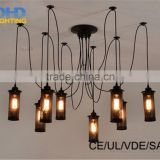 6-8-10-12-14arm Mordern Nordic Retro Edison Bulb Pendant chandelier Vintage Loft Antique Adjustable E27 Art Spider Ceiling La
