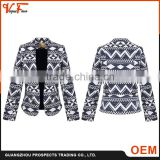 2016 custom fashion latest design spring woven Lattice formal women jacket & blazer for lady