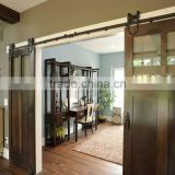 Multifunctional sliding glass window wooden doors for home office