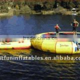 inflatable water park with water trampoline tube and slide