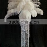 Wholesale WHITE ostrich feathers tall wedding candelabra centerpiece