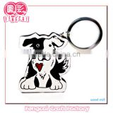 Custom Wooden Dog Shaped Keychain and Key ring Cute ( wood Art/crafts in laser-cut & engraving)charm