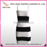 2016 Fashion Tight Slimming Fitness Wear Wholesale Sexy Stripes Brace Skirts Casual Elegant Evening Dress