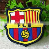 Bassar Logo Football Soccer Iron On Jacket Patch Crest Woven Badge 7cm*6.5cm Christmas DIY gift card decor