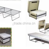 Hot Sell Metal Folding Ottoman Bed with comfort mattress in Single size and powder coating finish