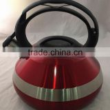 3L stainless steel red non electric copper coated brew kettle for sale