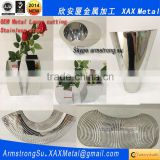 XAX47LC stainless steel flower vase laser cutting
