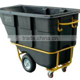 650L Black Roto-moulded Tilt Truck, Tilt Cart